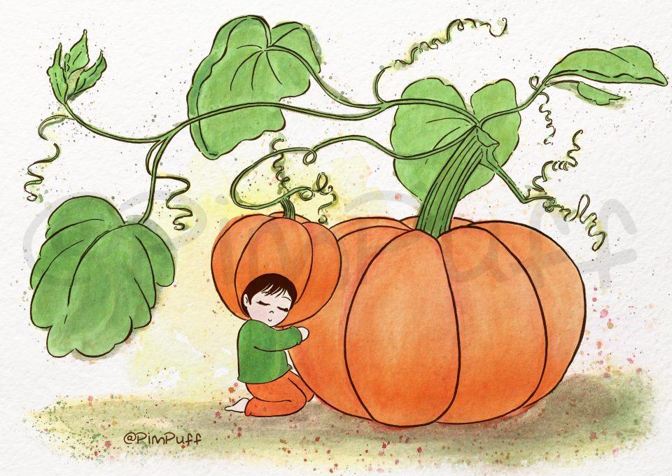 "<font size=""6""><span><b><i>Pumpkin</b></i></span></font>"